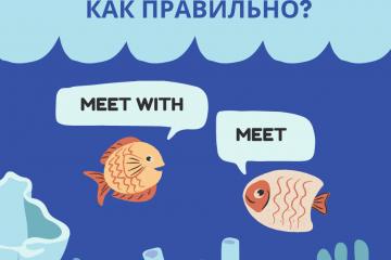 Meet или meet with